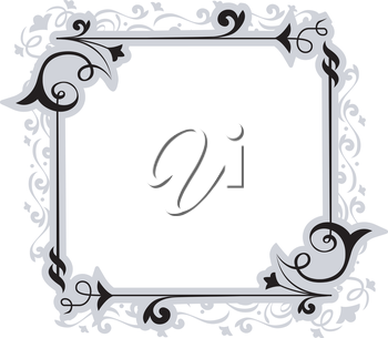 Illustration of a Frame with a Filigree Design