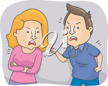 Illustration of a Couple Arguing