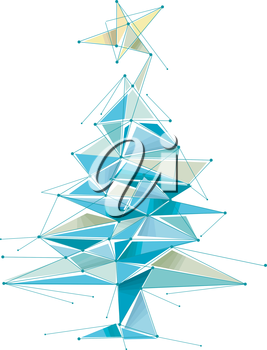 Abstract Illustration Featuring a Christmas Tree
