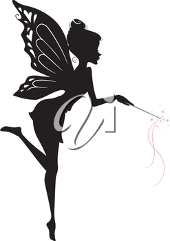 Illustration Featuring a Fairy Waving Her Wand