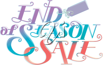 Text Illustration Featuring the Words End of Season Sale