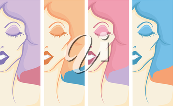 Panel Illustration of a Drag Queen in Full Make Up and Costume