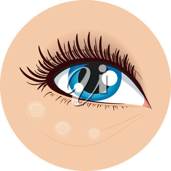 Icon Illustration Demonstrating How to Use Concealing Cream