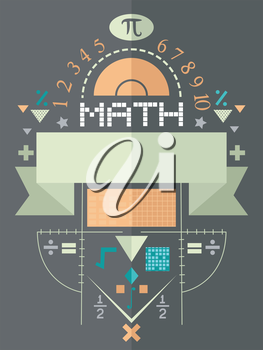 Poster Illustration Featuring Math Symbols
