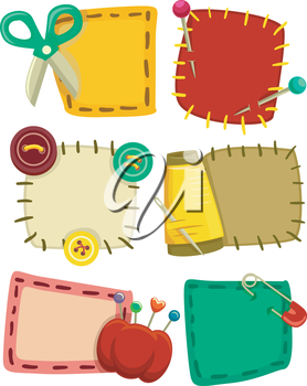 Colorful Illustration Featuring an Assortment of Patches