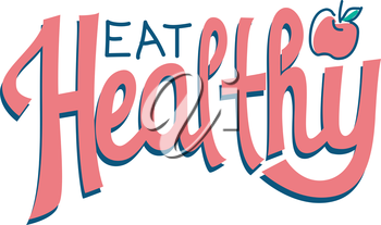 Typography Illustration Encouraging People to Eat Healthy