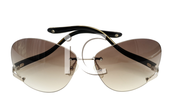 Modern sunglasses on a white background, isolated