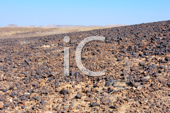 Royalty Free Photo of Desert Terrain at Makhtesh Ramon, a Unique Crater in Israel