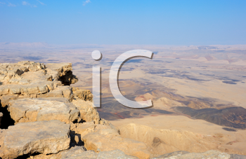 Royalty Free Photo of Makhtesh Ramon, a Unique Crater in Israel from the Top