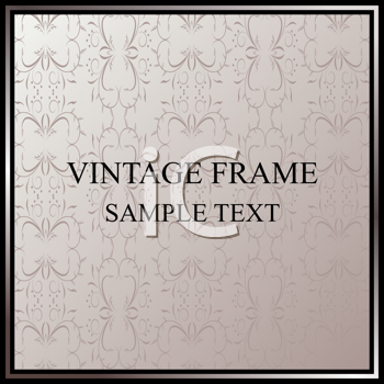 Royalty Free Clipart Image of a Floral Vintage Frame