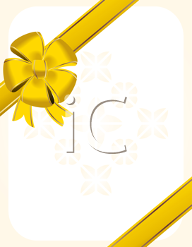 Royalty Free Clipart Image of Christmas Bow Background
