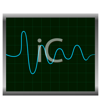 Royalty Free Clipart Image of a Normal ECG (Electronic Cardiogram)