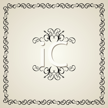 Royalty Free Clipart Image of a Vintage Background