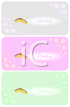 Royalty Free Clipart Image of a Set of Wedding Invitations