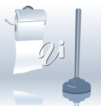 Illustration of toilet roll with realistic shadow - vector