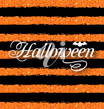 Illustration Happy Halloween Poster. Light Holiday Background - Vector