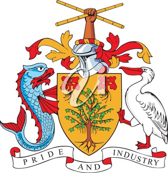 vectorial image of coat of arms of Barbados
