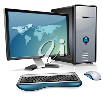 Royalty Free Clipart Image of a Computer