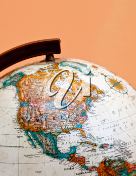 Royalty Free Photo of a Globe on North America