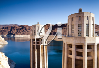 Royalty Free Photo of the Hoover Dam Towers