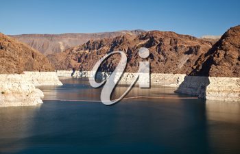 Royalty Free Photo of the Colorado River and Lake Mead