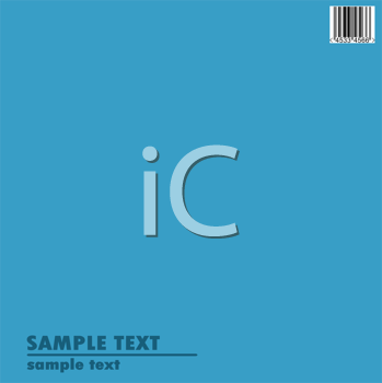 Royalty Free Clipart Image of a Blue Background With Bar Code and Text Space