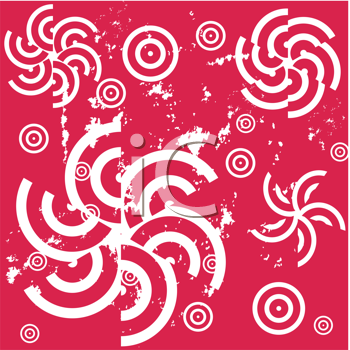 Royalty Free Clipart Image of a Pinwheel Background