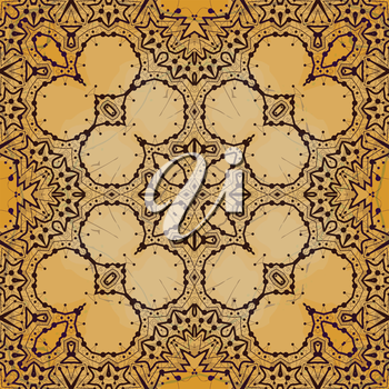 Unusual seamless background. Wallpaper in indian tribal style ornament. Vintage design elements