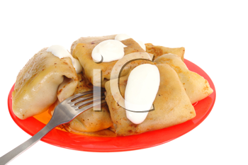 Royalty Free Photo of a Plate of Perogies