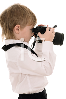 Royalty Free Photo of a Child Holding a Camera