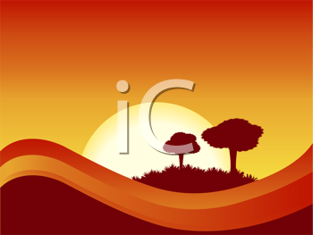 Royalty Free Clipart Image of a Sunset Background