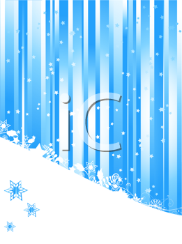Royalty Free Clipart Image of a Blue Christmas Background
