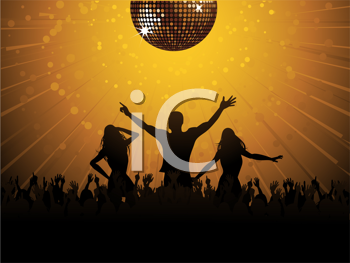 Royalty Free Clipart Image of a Clubbing Background