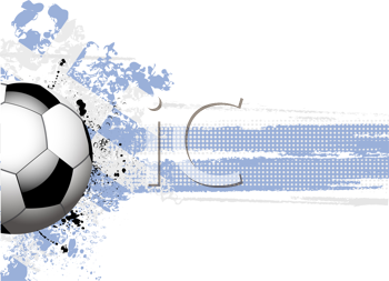 Royalty Free Clipart Image of a Football Banner With the Greek Flag