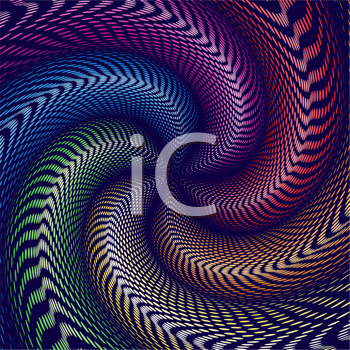Royalty Free Clipart Image of an Abstract Swirling Background