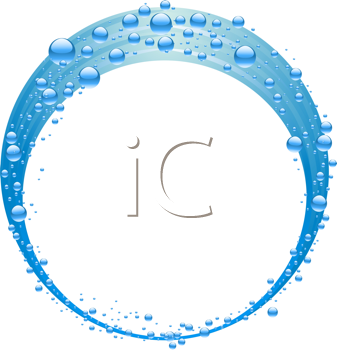 Royalty Free Clipart Image of an Abstract Wave of Bubbles