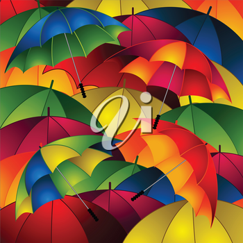 Multicolours Close Up Umbrellas Background