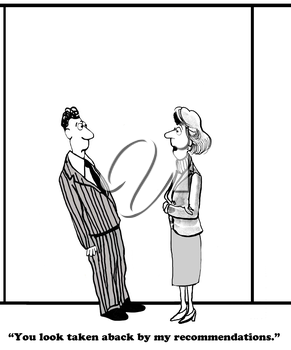 Royalty Free Clipart Image of Colleagues Talking