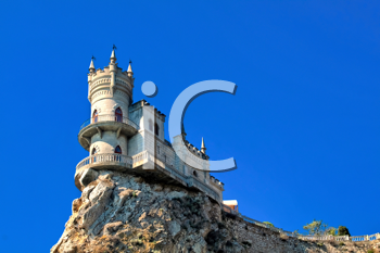 Royalty Free Photo of a Mock-Medieval Castle Near Yalta, in Crimea, Ukraine