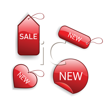 Royalty Free Clipart Image of Red Tags
