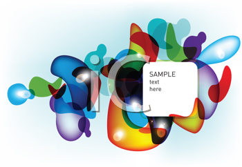Royalty Free Clipart Image of a Geometric Design With Space for Text