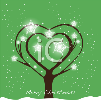 Royalty Free Clipart Image of a Merry Christmas Background