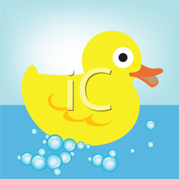 Royalty Free Clipart Image of a Rubber Duck