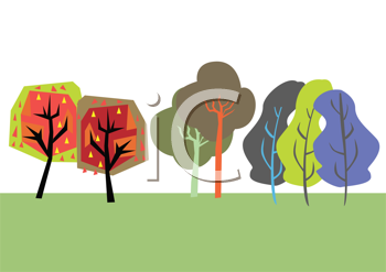 Royalty Free Clipart Image of an Abstract Nature Scene