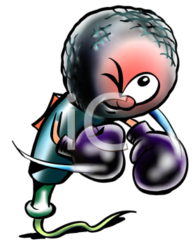 Royalty Free Clipart Image of a Boxing Microphone