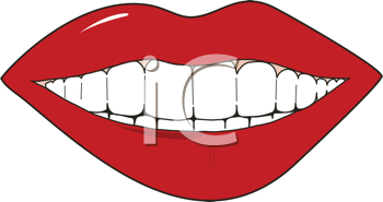 Royalty Free Clipart Image of a Smiling Mouth