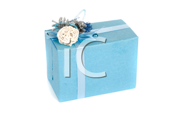 blue gift box isolated on a white background