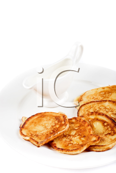 Royalty Free Photo of Pancakes on a Plate