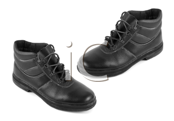 black boots isolated on a white background