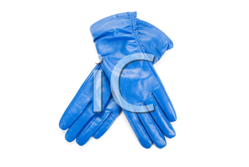 Royalty Free Photo of Blue Leather Gloves
